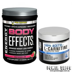 BODY EFFECTS + ACETYL L-CARNITINE STACK Lemonade 30 Serves + 75 Serves
