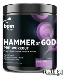 BPM Labs Hammer of God Smashed Berry 25/50 Serves