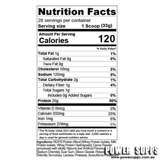 prosupps iso p3 ingredients