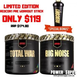 REDCON1 PRE WORKOUT STACK SPECIAL List flavours in Checkout Notes Total War + Big Noise