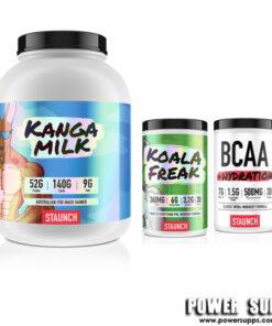 Staunch Nation Kango Milk + Koala Freak+ BCAA List Flavours at Checkout 6lb + 30 + 30 Serves