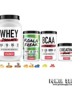 Staunch Nation WPI + KOALA FREAK + BCAA + CREATINE List Flavours at Checkout 30 + 30 + 30 + 30