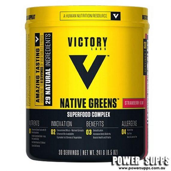 Victory Labs Native Greens Strawberry Kiwi 30 Serves