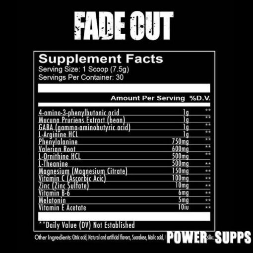 redcon1 fade out ingredients