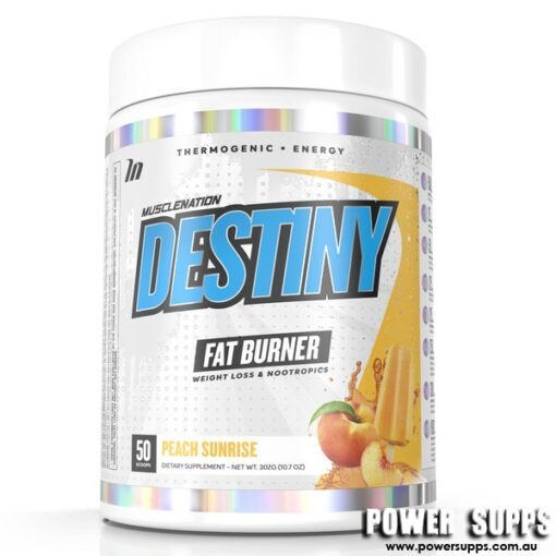 Muscle Nation Destiny Fat Burner Peach Sunrise 50 Serves
