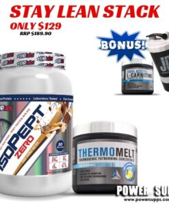 EHPLabs Stay Lean Stack List flavours in Checkout Notes Isopept + Thermomelt + freebies