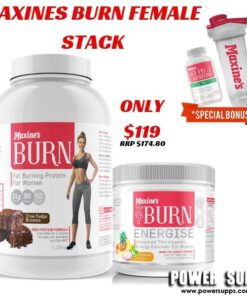 Maxine's Burn Female Stack List flavours in Checkout Notes Burn Protein + XT