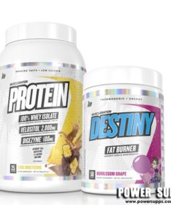 Muscle Nation Protein + Destiny Stack List Flavours in Notes at Checkout Protein + Destiny