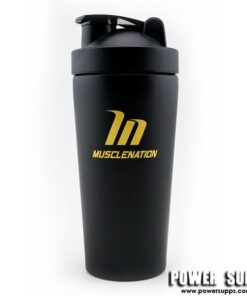 Muscle Nation Stainless Steel Shaker Red 750ml