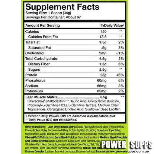 muscle sport lean whey ingredients