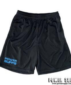 Power Supps Gym Shorts Black/Blue Stich X Large