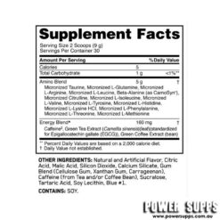 optimum nutrition essential amino energy ingredients