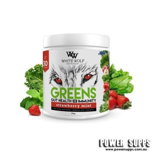 White Wolf Nutrition Greens Strawberry Mint 30 Serves
