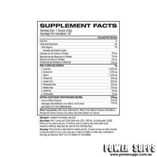 gat flexx eaa+ hydration blue razz ingredients
