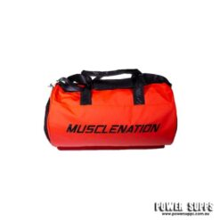 muscle nation gym bag red duffle