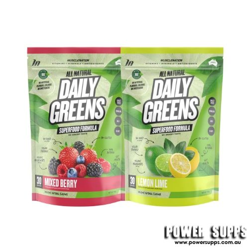 muscle nation natural daily greens twin pack