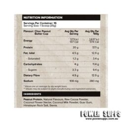 muscle nation natural plant protein choc peanut butter cup ingredients