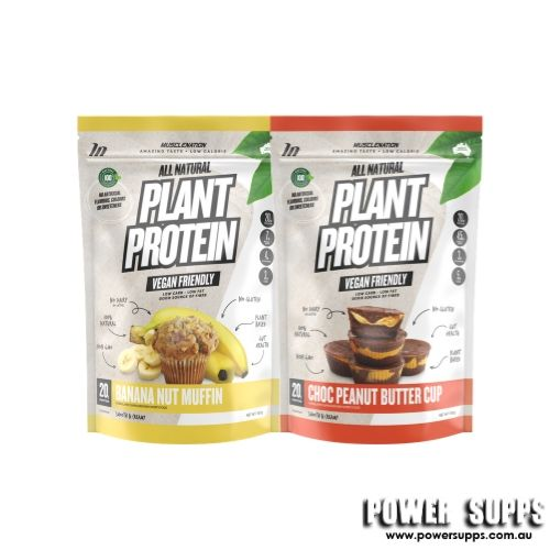 muscle nation natural plant protein twin pack