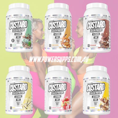 muscle nation custard casein protein