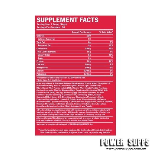 bsn syntha-6 ingredients