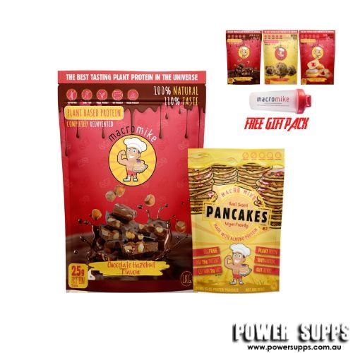 macro mike plant protein pancakes stack