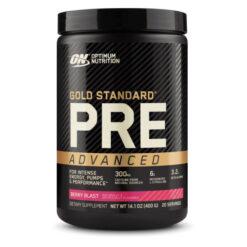 Optimum Nutrition Gold Standard Pre Workout Advanced Berry Blast 20 Serves