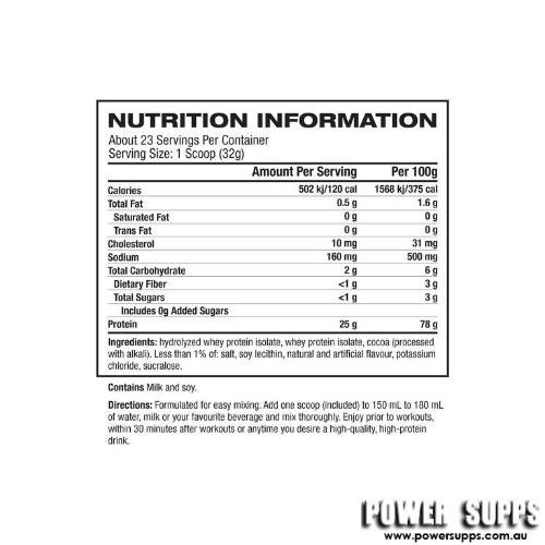 dymatize iso 100 hydrolyzed 1.6lb ingredients