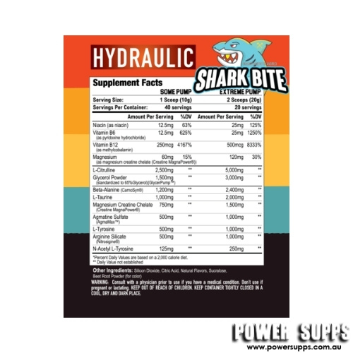 axe and sledge hydraulic pre pump ingredients