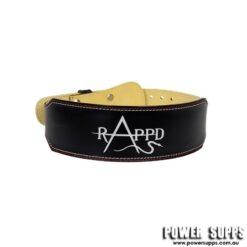 Rappd Leather Training Belt Black/White Print XX Large