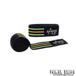 Rappd Knee Wraps Black/Green/Orange 2m