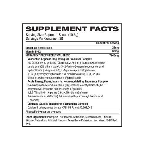 gat nitraflex ingredients updated