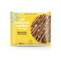 Muscle Nation Cookie Single Banana Oat Choc Chunk 85g Cookie