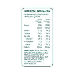 x50 green tea 60 ingredients