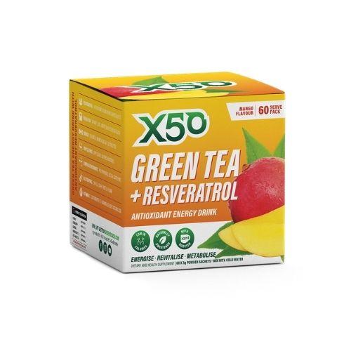 X50 Green Tea Mango 60 Serves