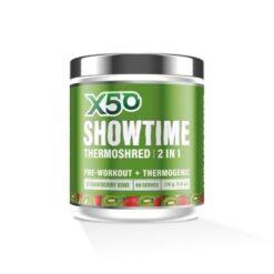 x50 SHOWTIME THERMOSHRED Preworkout + Fatburner Strawberry Kiwi 60 Serves