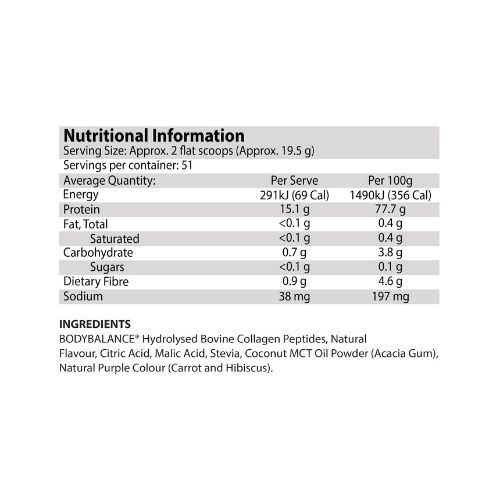 atp science noway juicy collagen protein ingredients