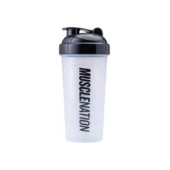 Muscle Nation Shaker Range Clear/Black Print 700ml